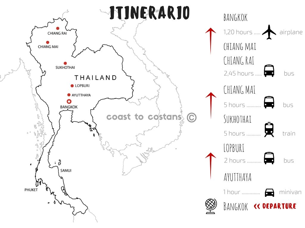 Mappa thiailandia
