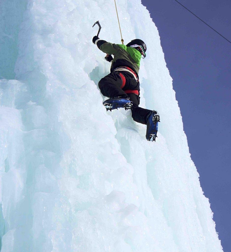 tirolo arrampicata sul ghiaccio
