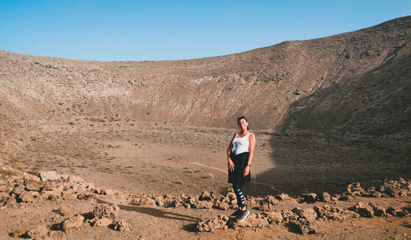 Lanzarote trekking al vulcano